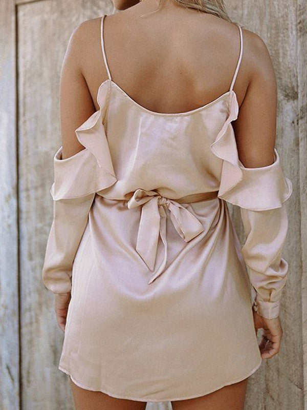 Bare in Mind Off-the-Shoulder Dress - FIREVOGUE