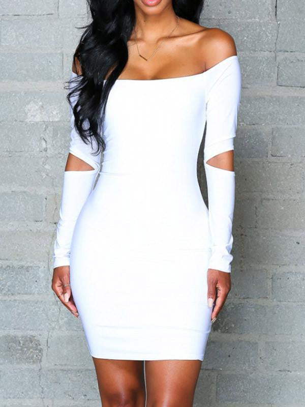 Sexy Off Shoulder Bodycon Mini Dress