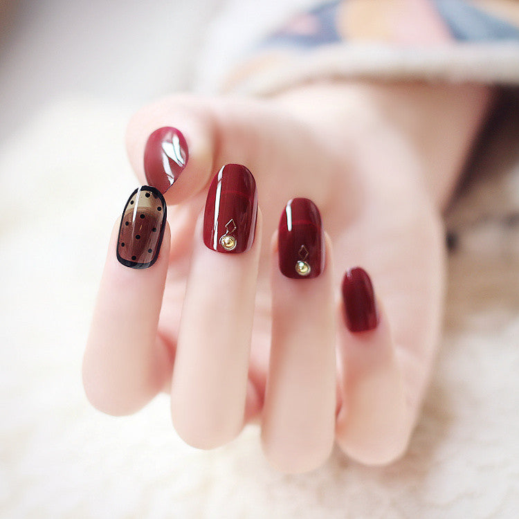 Gorgeous Wine Red False Nails/fake Nails – FIREVOGUE