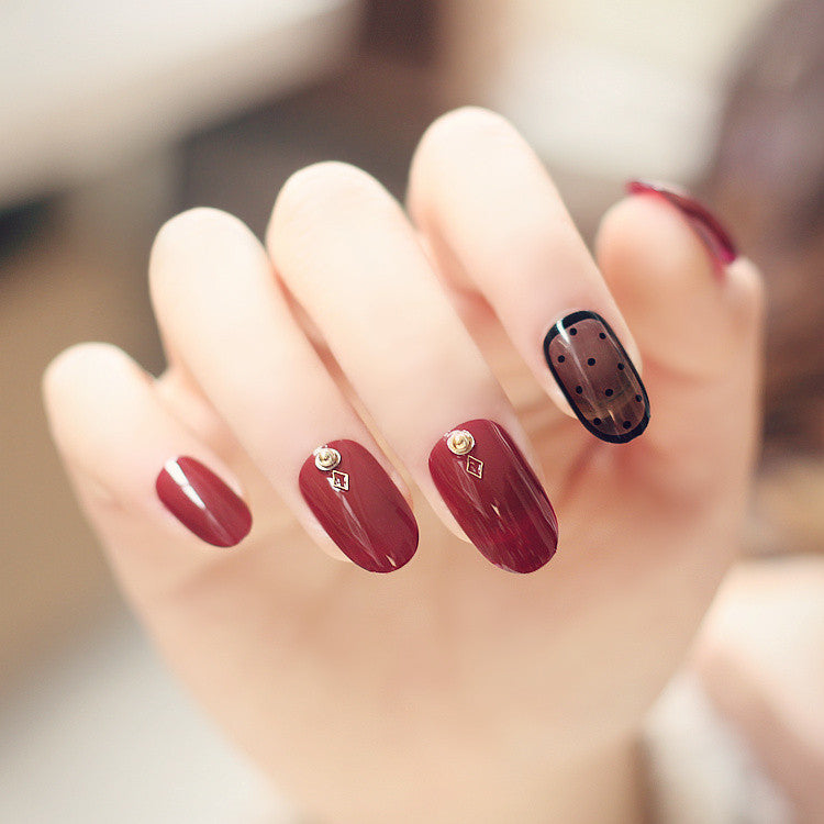 Gorgeous Wine Red False Nails/fake Nails - FIREVOGUE