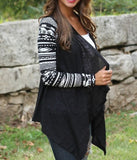 Unique Pattern Irregular Cut Cardigan
