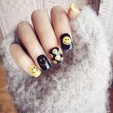 Cute Smile Face False Nails/fake Nails - FIREVOGUE