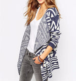 Blue Line Open Front Cardigan - FIREVOGUE