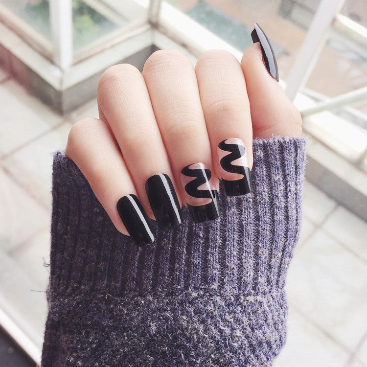 Unique Black False Nails/fake Nails - FIREVOGUE