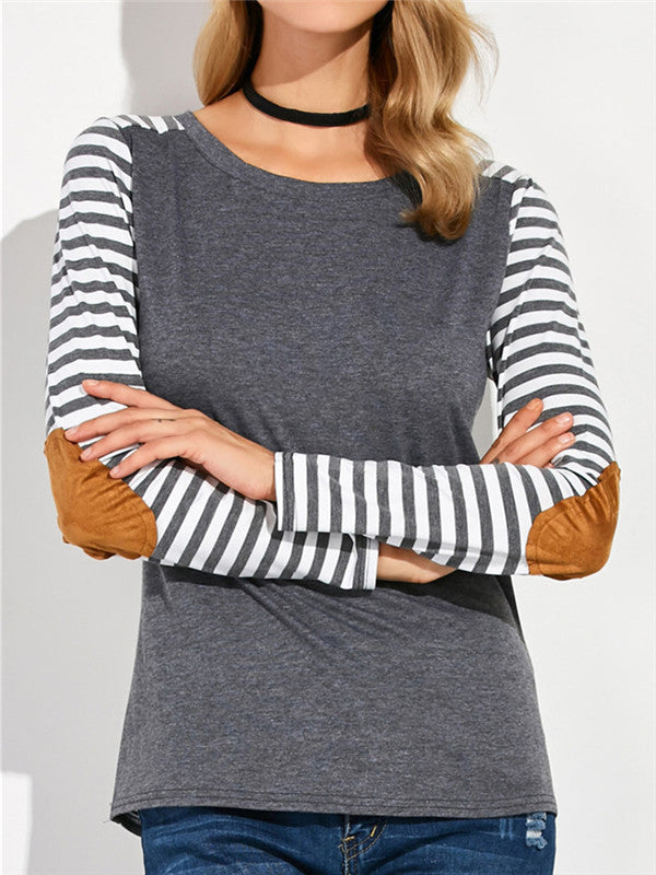 Striped Back Long sleeves T-shirt - FIREVOGUE