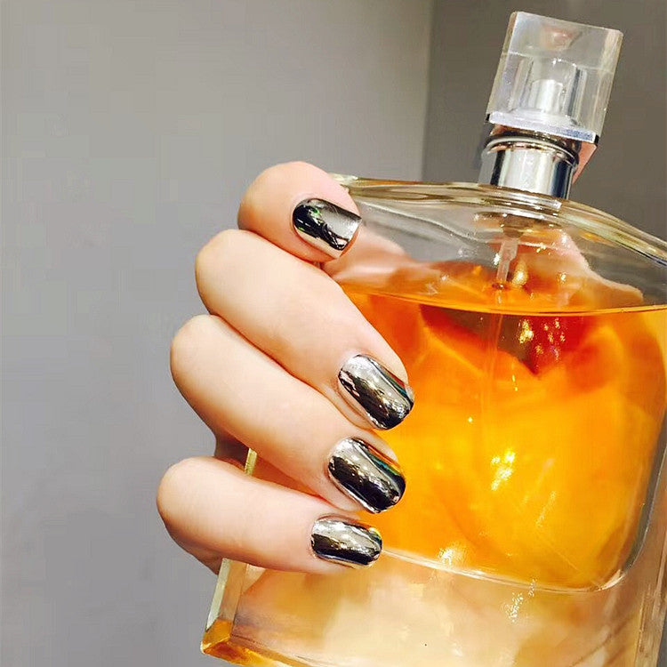 Punk Style Smoky Grey False Nails/fake Nails