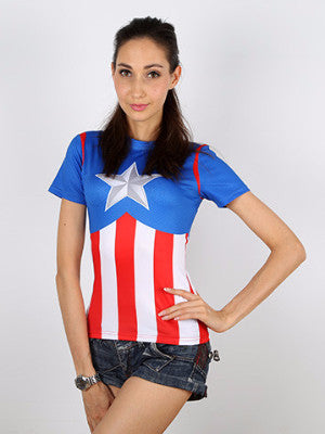 Captain America Tight T-shirt - FIREVOGUE