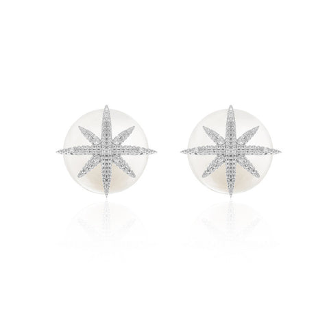 WYA PLATED SYUD EARRINGS WITH PEARL - WealFeel