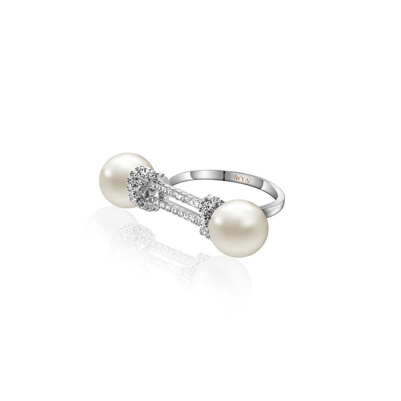 WYA KNOT RING WITH PEARL - WealFeel