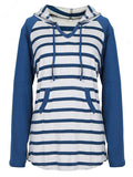 Stripe Time Hooded Sweatshirt