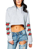 Women's Crop Top Hoodie Sweatshirt