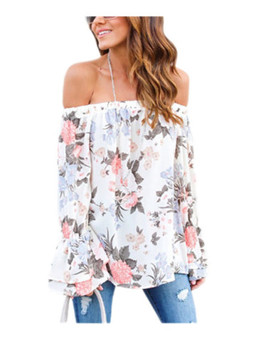 Summer Paradise Long Sleeve Floral Top