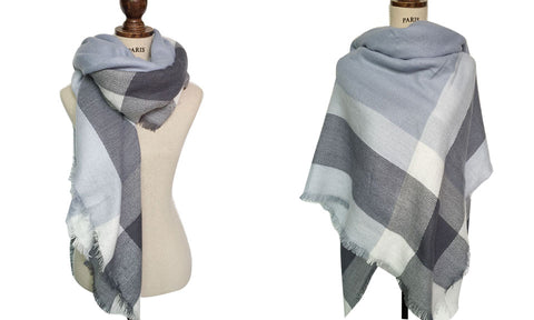 Warm Winter Women's Plaid Scarf