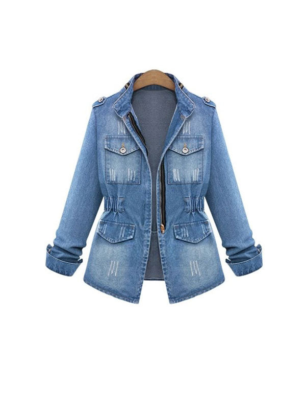 Breath And Life Fashion Denim Outerwear