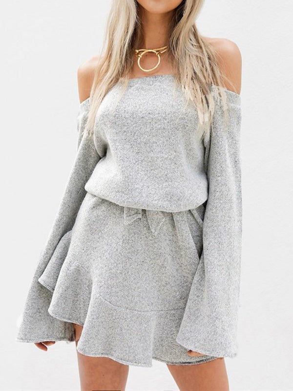 Waiting For It Cold Shoulder Dress