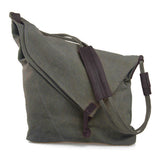 Basic Canvas Messenger Bag - FIREVOGUE