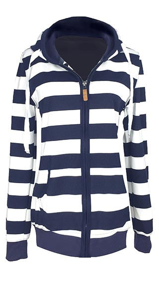 All the Stripe Reasons Hood Sweatshirt - FIREVOGUE