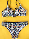Mermaid Fish Scales Print Bikini Sets - FIREVOGUE