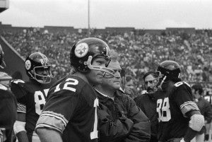 Terry Bradshaw and Chuck Noll