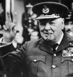 Winston Churchill and his ever present Cigar