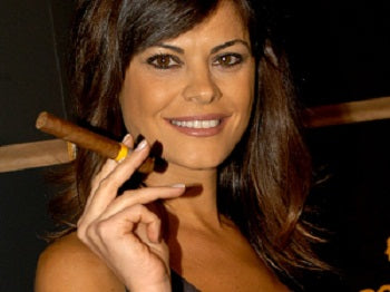 Beautiful woman with a cigar