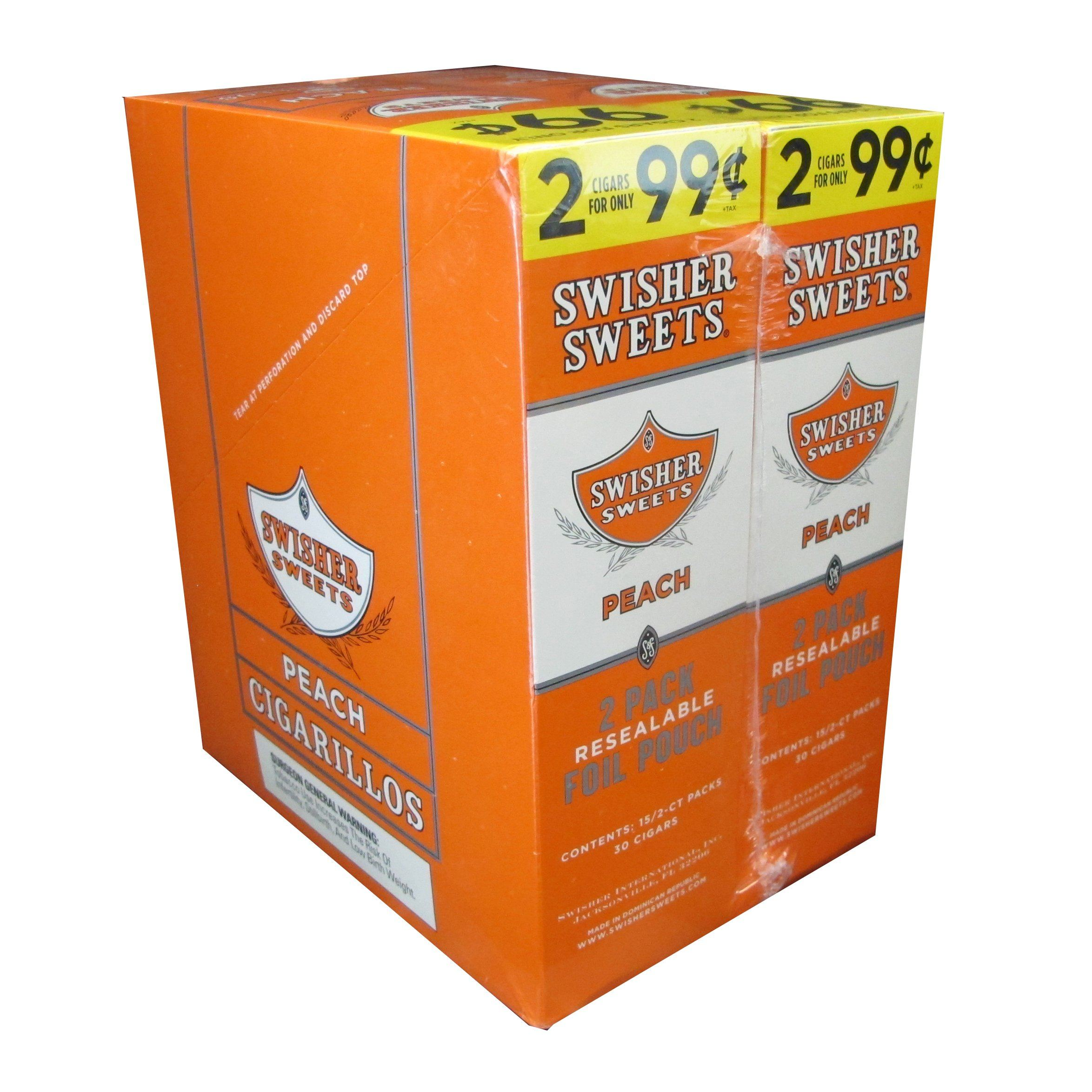 Swisher Sweets Peach Cigarillos