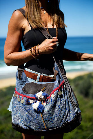 Fortune Teller - Maxi. Unique Handmade Boho Handbag With Leather