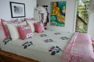 Watermelon pink bedcover & tablecloth