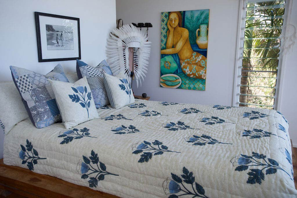 Sapphire Blue Quilt Bed Cover