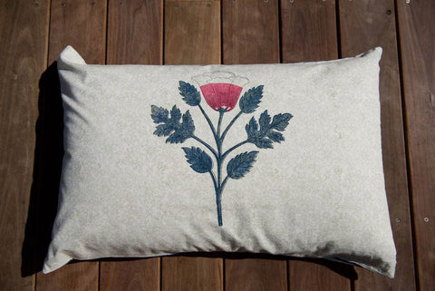 Hand Block Printed Watermelon Lotus Boho Pillow Case 720cm x 500cm