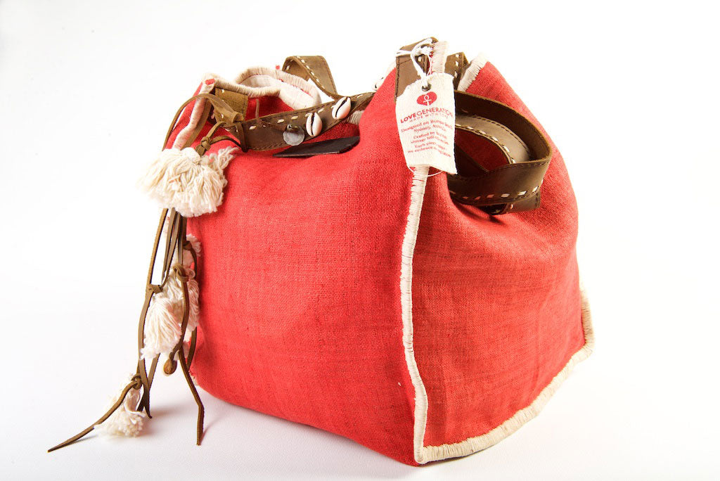Wild Child - Medium Tote in Watermelon Red