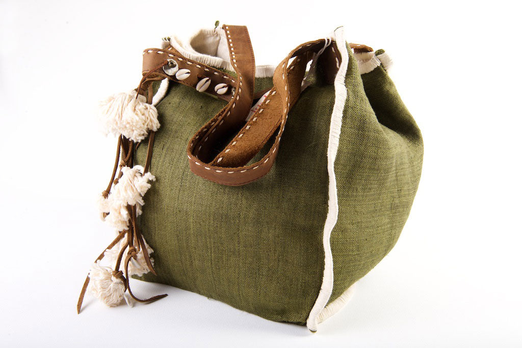 Wild Child - Medium Tote in Jungle Green