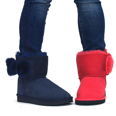 Shearling Bow Ugg Boots