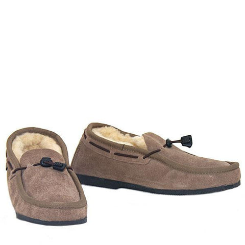 Cord Slip-on Loafer Mashroom