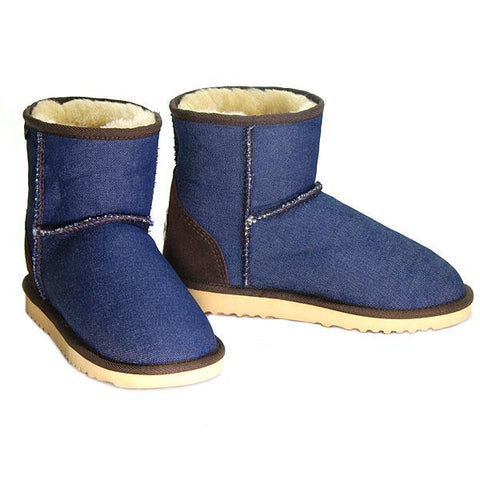 Denim Mini Ugg Boots