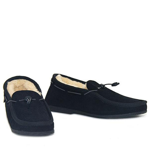 Cord Slip-on Loafer Black