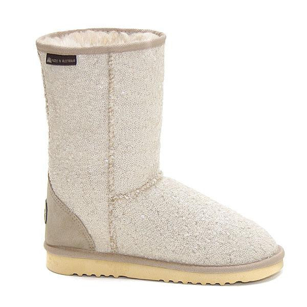 Shimmer Short Ugg Boots - White Pearl
