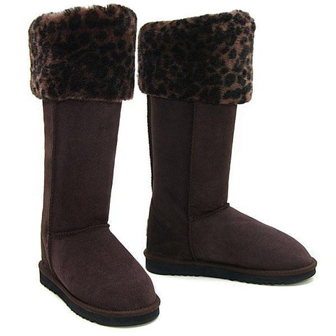 Rosette Ultra Tall Ugg Boots - Chocolate Brown Leopard