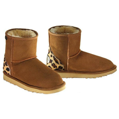 Safari Mini Ugg Boots - Leopard Chestnut
