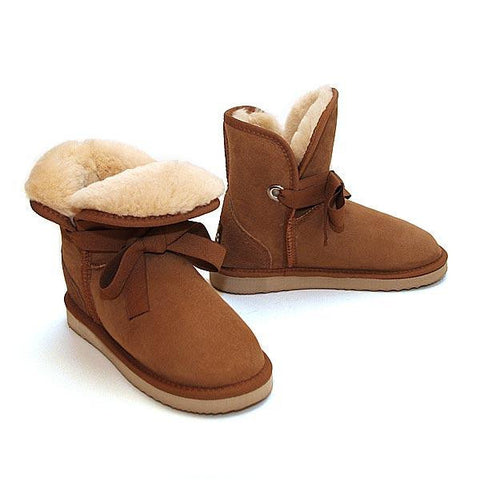 Roxane Mini Ugg Boots - Chestnut