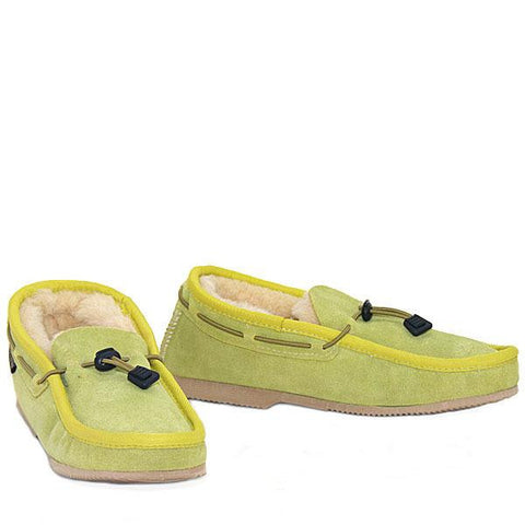 Cord Slip-on Loafer Lime