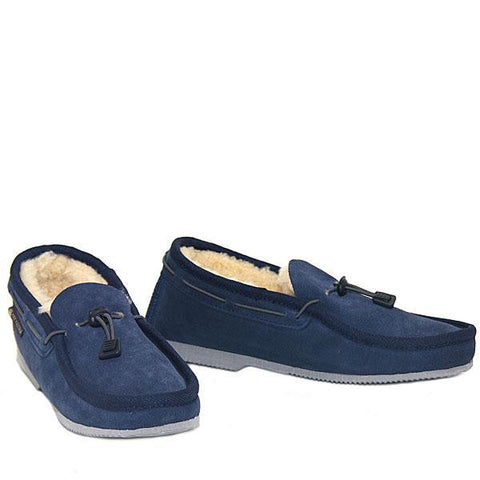 Cord Slip-on Loafer Navy