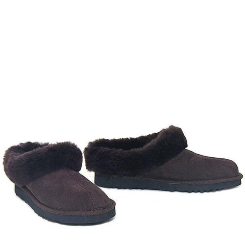Lux Mule Slippers - Chocolate