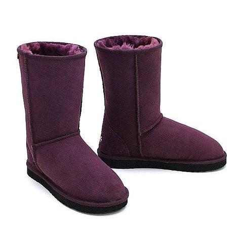 Deluxe Classic Short Ugg Boots - Plum