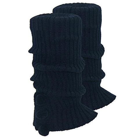 Knitted Ugg Socks - 3 PomPom Navy