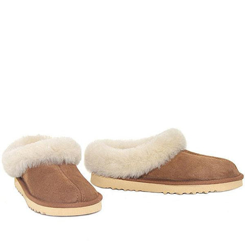 Lux Mule Slippers - Chestnut