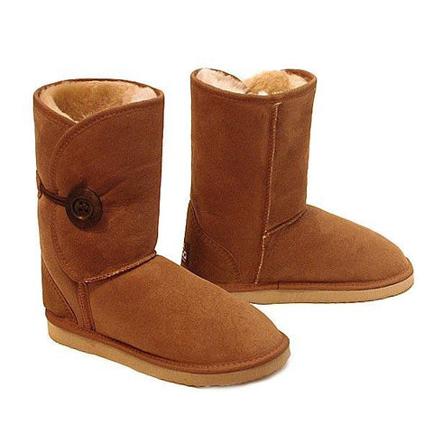 Button Wraps Ugg Boots - Chestnut