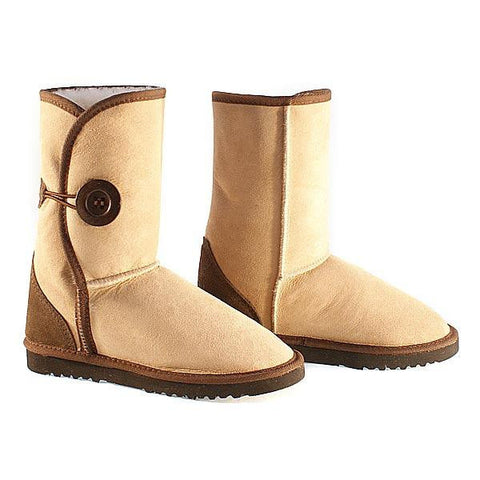 Button Wraps Ugg Boots - Cappuccino
