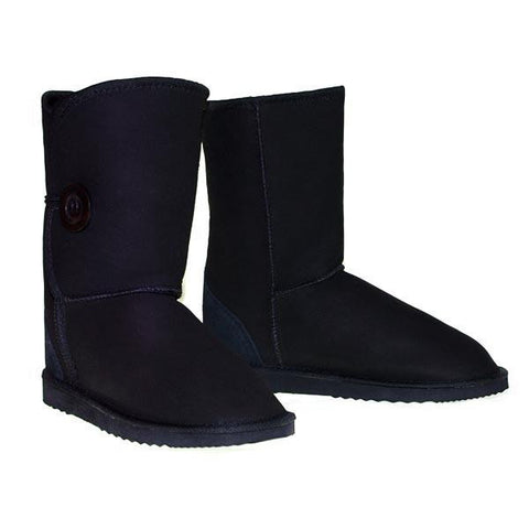 Button Wraps Ugg Boots - Black