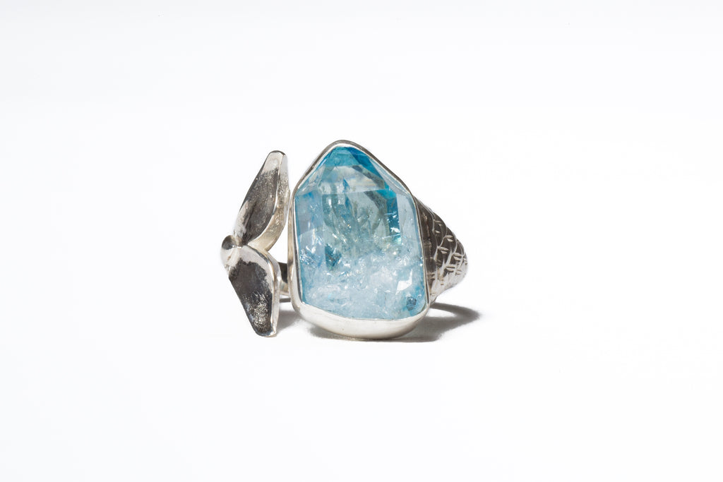 Leah Aqua Aura Mermaid Ring